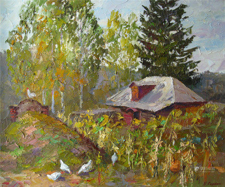 Oil painting Neighbors Serdyuk Boris Petrovich
