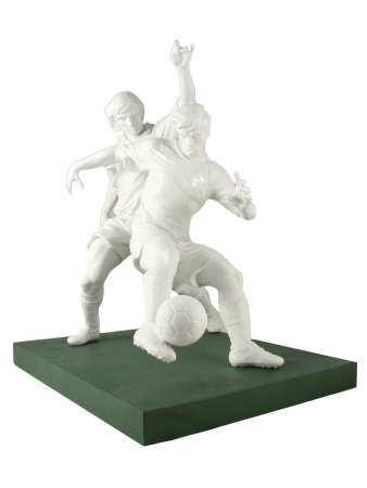 A LLADO PORCELAIN GROUPING FOOTBALL PLAYERS