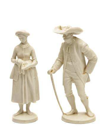 A NYMPHENBURG PORCELAIN FIGURINES, EARLY 20TH C.