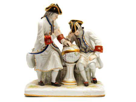 A MEISSEN STYLE PORCELAIN FIGURINE LATE 19TH C.