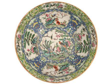 AN 18 CEN  CHINESE 18TH CENTURY FAMILLE ROSE BOWL