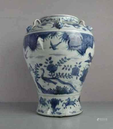 CHINESISCHE VASE, Porzellan (ungemarkt), späte Qing Dynastie / chinese vase, late Qing dynasty.