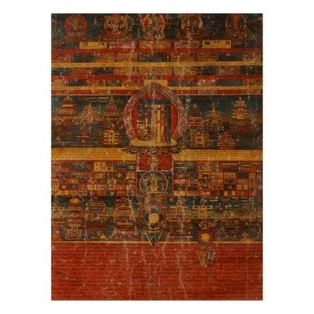 A THANGKA DEPICTING THE ALL-POWERFUL TEN SYLLABLES OF KALACHAKRA,  TIBET, CIRCA 18TH/19TH CENTURY