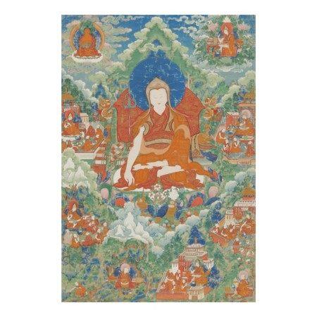 A THANGKA DEPICTING RENDAWA ZHONNU LODRO,  TIBET, CIRCA 1800
