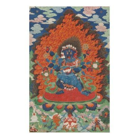 THE GODDESS CARCIKĀ AND CONSORT, CHINA, BEIJING, QING DYNASTY (1644-1911),  QIANLONG PERIOD (1735-1796)