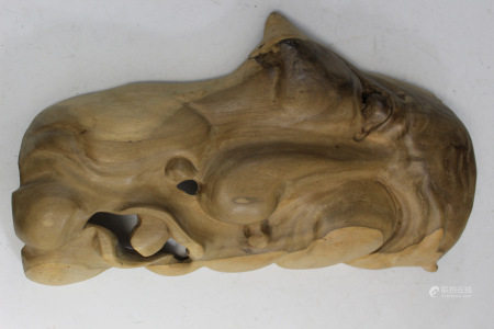 Wood Mask Wall Hanging