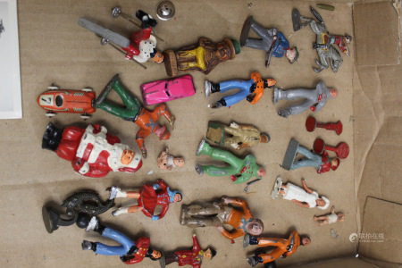 Group of Antique Toy Metal Figurines