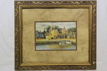 River Bank, Framed Print.