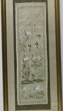 Chinese Embroidery Piece. Framed.