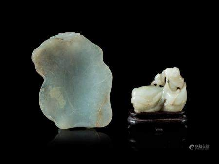 Two Carved Jade Articles