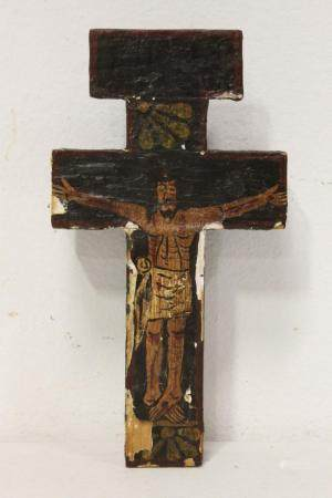 Antique hand painted crucifix