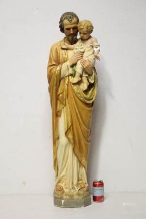 A large polychrome religious sculpture