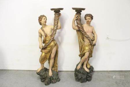 Pr 17th/18th c. French/ Italian torchiere candle holder