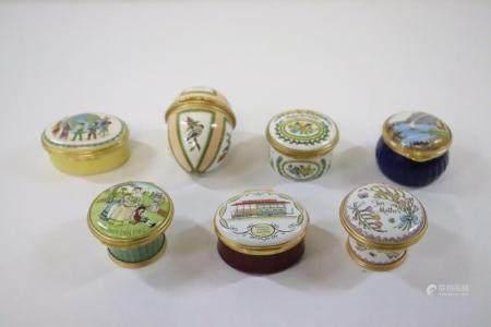 7 Halcyon Days enamel trinket boxes