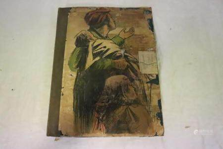 Large lot of antique etchings, prints