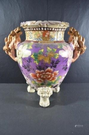 Antique Meiji Period Japanese Satsuma Vase
