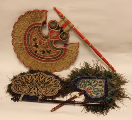 3 Hand Made Mid-East Fans