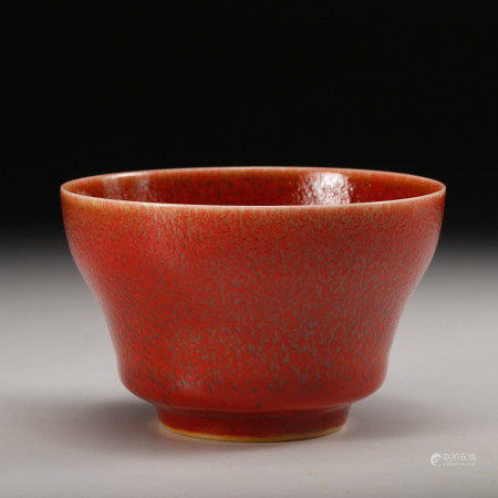 A Chinese Oxblood Glazed Porcelain Cup