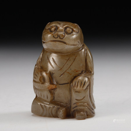 A Chinese Archaistic Jade Beast
