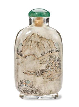 An inside-painted glass snuff bottle   Ma Shaoxuan, 1902