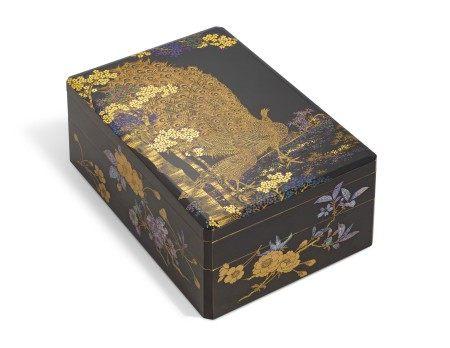 A TWO-TIERED SOMADA WRITING BOX (SUZURIBAKO)