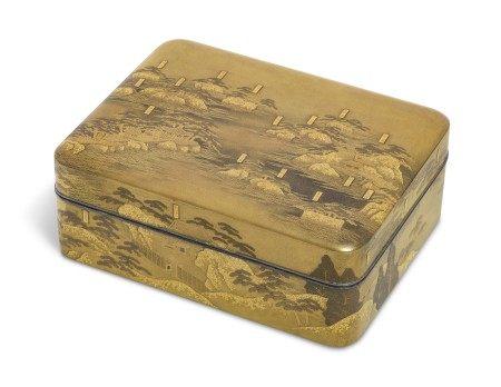 A LACQUER BOX (KOBAKO) WITH VIEWS OF MATSUSHIMA BAY
