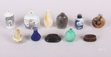 """A Canton enamel miniature scent bottle with figure decoration, 2 3/4"""" high, eight other scent"""