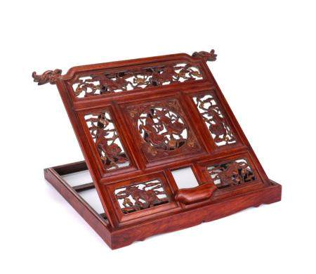 A HUANGHUALI STAND FOR CALLIGRAPHY PRACTICE