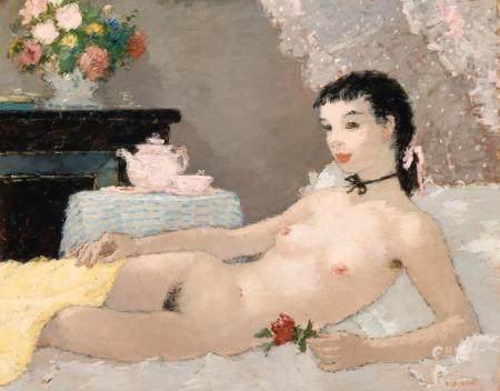 Dietz Edzard German/French, 1893-1963 Nue Allongee, circa 19