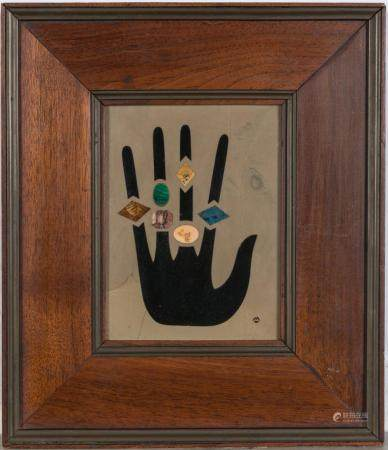 Richard Blow (1904-1992) Untitled (Hand with jewels) Pietra