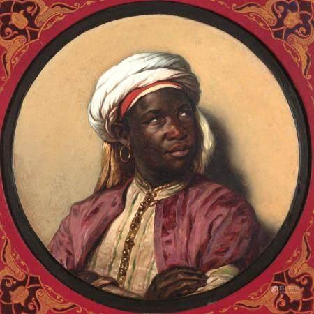 European School 19th Century Portrait of a North African Man