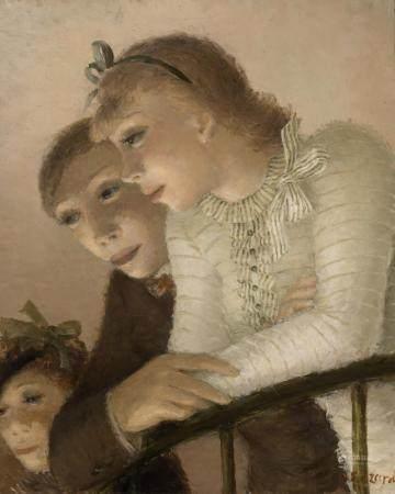 Dietz Edzard German/French, 1893-1963 Couple on the Balcony,
