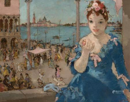 Dietz Edzard German/French, 1893-1963 Carnival in San Marco,