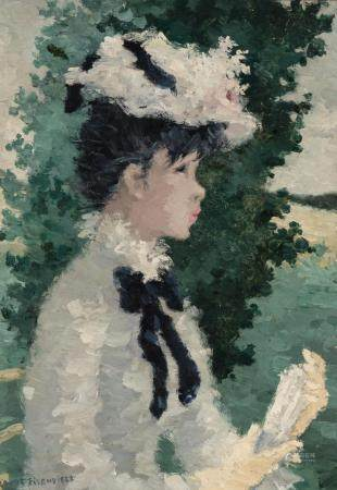 Suzanne Eisendieck German/French, 1908-1998 Girl in a White