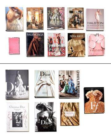 [BOOKS-FASHION] Group of approximately seventeen volumes on