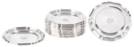 Set of Twelve International Silver Co. Sterling Silver Bread