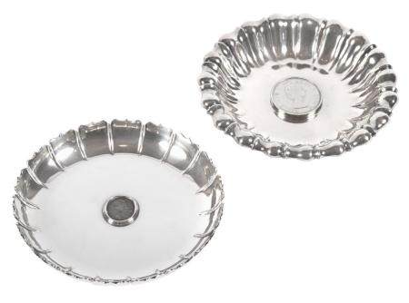 Bulgari Sterling Silver Dish; Together with a Silver Plated