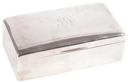 George V Sterling Silver Table Cigarette Box