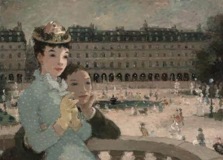 Dietz Edzard German/French, 1893-1963 Les Amoureux des Tuile