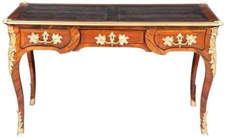 Louis XV Style Kingwood and Gilt-Bronze Mounted Bureau Plat