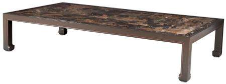Chinese Eight Panel Coromandel-Inset Low Table