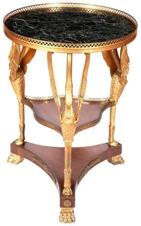 Continental Neoclassical Style Gilt-Metal, Cut-Glass and Roc