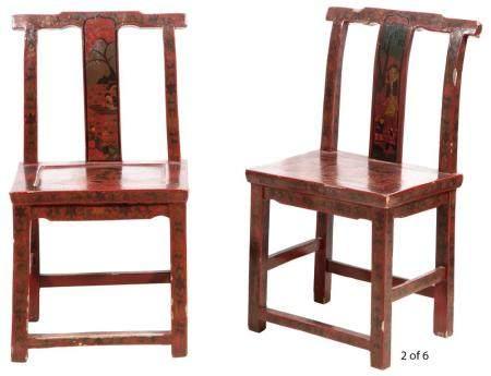 Two Chinese Enameled Porcelain Square Form Vases