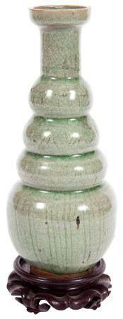 Korean Celadon Glazed Bottle Vase