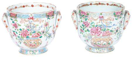 Chinese Export Famille Rose Cache Pot