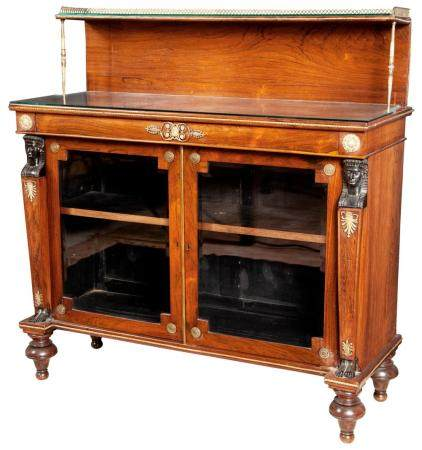 Set of Six George IV Rosewood, Rosewood-Grained and Brass-In