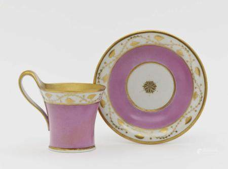 A cup and saucer - KPM Berlin, 2nd quarter of the 19th centu