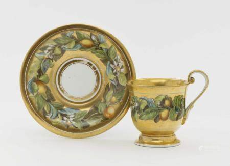 A cup and saucer - Meissen, 1st half of the 19th century