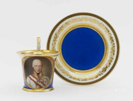 A cup and saucer - Vienna, 1838