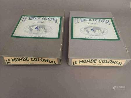 """Ensemble de 53 magazines grands formats du """" Monde Colonial illustré """" datant de [...]"""
